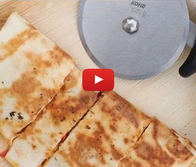 Mexican Quesadilla stuffed with Organic veggies by chef Varun Bajaj